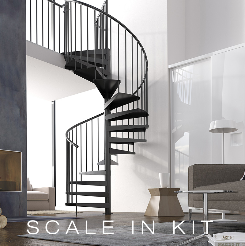 Scala a chiocciola a pianta circolare light metal kit nord kit scale - Tipologia di scale ...