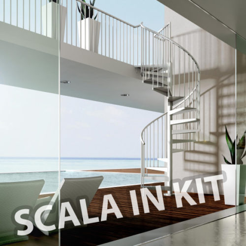 Scala a chiocciola ferro in Kit Light Metal